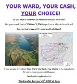 Your Ward, Your Cash ,Your Choice