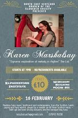 Karen Marshalsay concert Elphinstone Institute Aberdeen 16 February