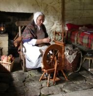 Innes spins in Bell a' Phuill's cottage