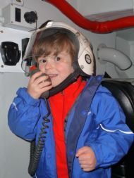 Storm Force Member Ruairidh Avern onboard with RNLI Portree
