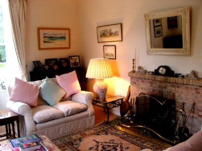 living room in brora bed & breakfast for use of guests