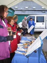 Cushnie Handbell Ringers at the November Market 2009