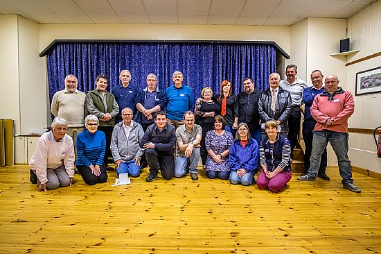 members of caston camera club celebrate at their annual agm and annual awards evening.