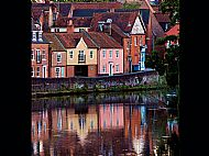 Reflection of houses