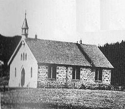 st andrew's united free church, glen road  (now the site of st bride's church)