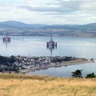 Cromarty Firth with Oil Rigs