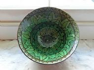 Green decorated bowl