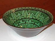 Decorated Green Bowl