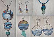 Sea Glass & Silk Jewellery