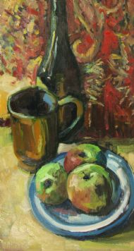 Wine, Mug & Apples