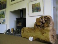 Unique piece of sculptural furniture in Burr Elm by Iain Ballantyne