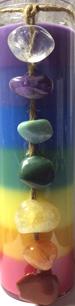 Chakra Jar Candle w/ Chakra Stones