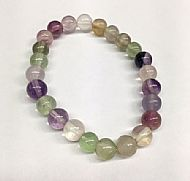 Fluorite Round Bead Bracelet
