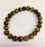 Tiger Eye Round Bead Bracelet