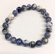 Sodalite Round Bead Bracelet