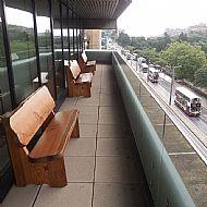 Douglas fir garden benches