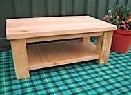 Coffee table with shelf - £495