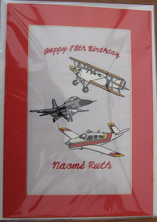 Machine Embroidery By Marie 18th And 21st Birthday Cards