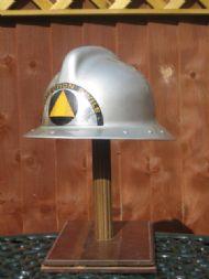 France, 'Petitcollin' maker, silver glassfibre, 'Protection Civille', 1960's.