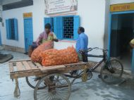 Vegetable being delivered
