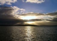 Autumn sun over Gairsay