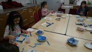 Decorating Photo Frames at Cromarty Junior Youth Café