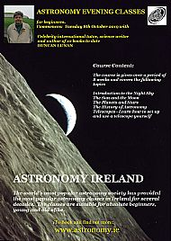 Astronomy Ireland evening classes with Celebrity internal tutor Duncan Lunan