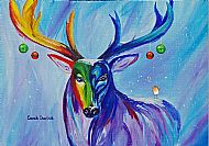A5 Christmas Stag Card