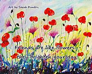 Friends Are Like Flowers Coaster