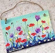 Original Summer Flowers Plaque