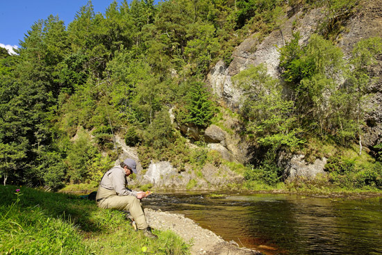 almon fishing on the novar fishings, river alness or river averon, ross-shire – beat 4, raven's rock