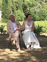 Laura & Michael  June 2019 Chateau D'Agel