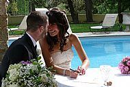Signing their Marriage Declaration