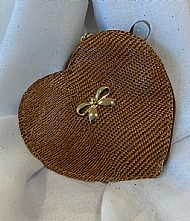 BROWN HEART PURSE