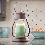RUSTIC BROWN HURRICANE LAMP