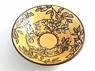 Medium honey foliage bowl