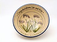 Golden Wedding bluebell bowl