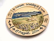 Golden Wedding platter