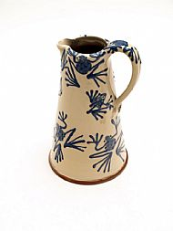 Blue frog jug - large straight