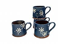 Splodge flower mugs
