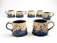 Small fish mugs