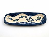 Oblong bread plate - fishes