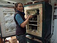 michelle lowe unloading kiln