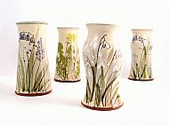 Medium vase (snowdrop, hawthorn, bluebell)