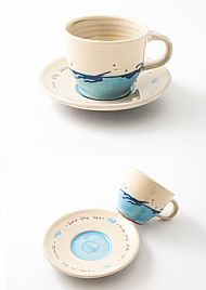 Swimmer cup and saucer