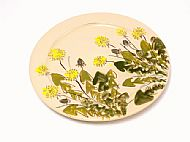 Round serving platter large (dandelion)