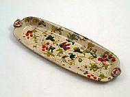 Long oblong platter with handles
