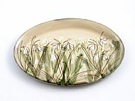 Oval platter snowdrops