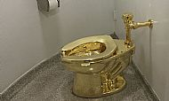 guggenheim golden toilet