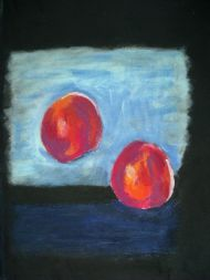 Red plums on Rothko